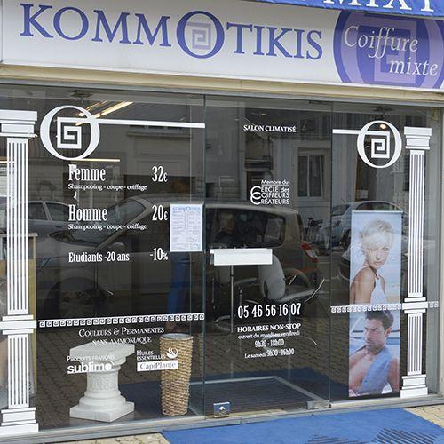 vitrine salon coiffure